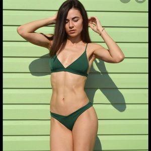 Hunter green Bikini set